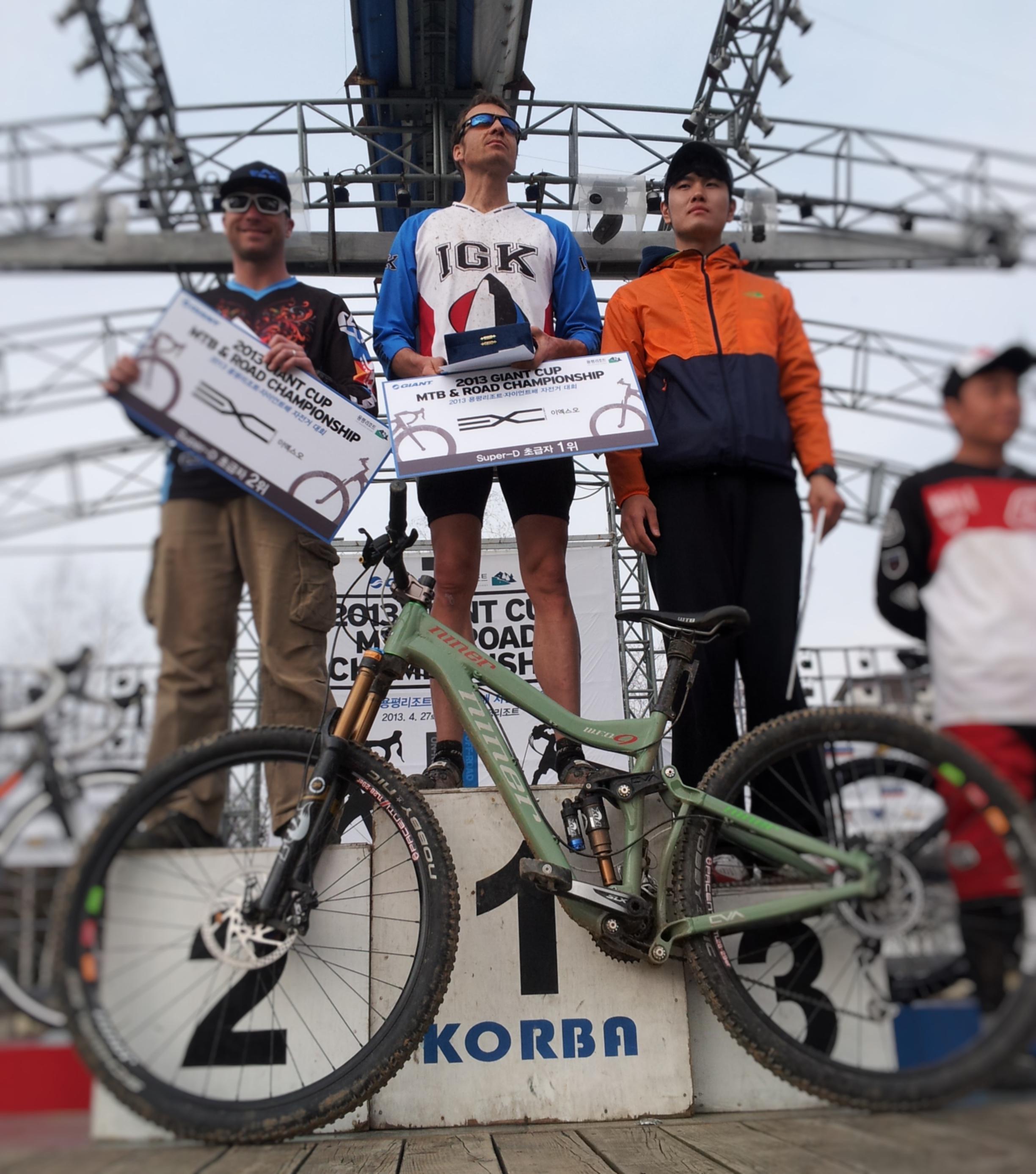 iGuideKorea Guide Andy Miller podium