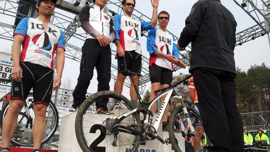 iGuideKorea's Mountain Bike Team podium finish