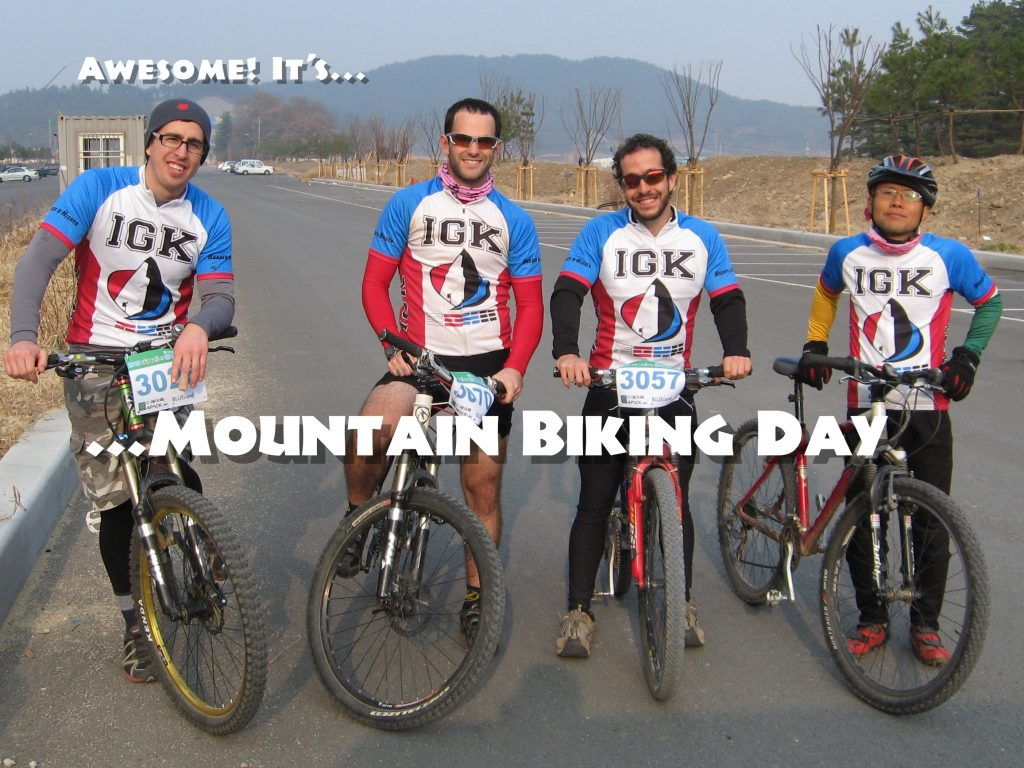 iGuideKorea MTB team photo